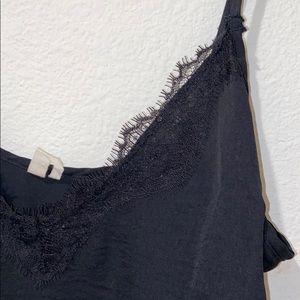 Urban Outfitters Dresses - Black Satin Lace Slip Dress